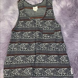 Aztec Patterned Tank Top